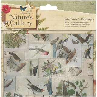 Papermania Nature's Gallery Cards W/Envelopes A6 12/Pkg