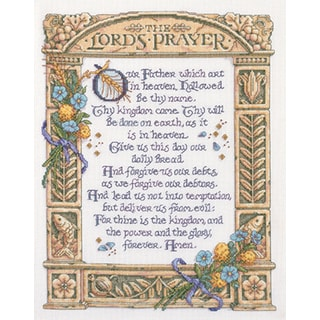 Lord's Prayer Counted Cross Stitch Kit11.25inX14.5in 14 Count