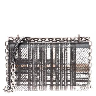 Prada Tartan Print Saffiano Leather Shoulder Bag