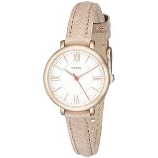 Fossil Women's ES3802 'Jacqueline' Beige Leather Watch