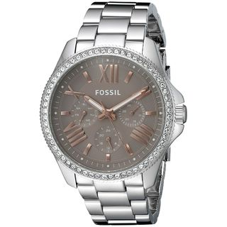 Fossil Women's AM4628 'Cecile' Multi-Function Crystal Stainless Steel Watch
