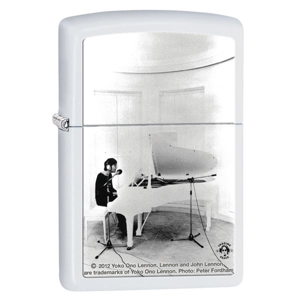 Zippo John Lennon White Matte Windproof Lighter