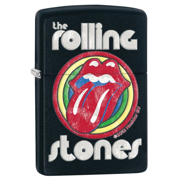Zippo Rolling Stones Black Matte Windproof Lighter