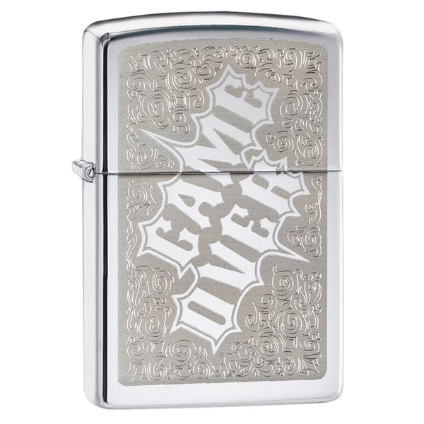 Zippo Game Over High Polish Chrome Lighter