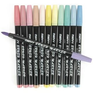 Brush Markers 12/Pkg Pastel