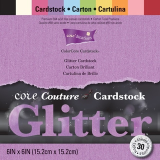 Core'dinations Core Couture Cardstock Pack 6inX6in 30/PkgGlitter