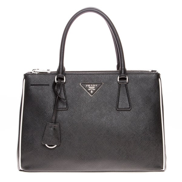 Prada Saffiano Lux Double-Zip Tote Bag