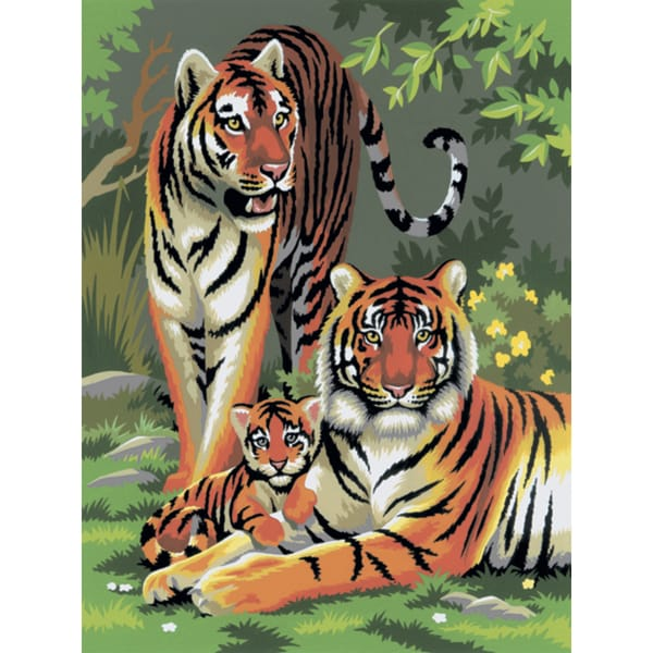 Junior Small Paint By Number Kit 8.75inX11.75inTigers