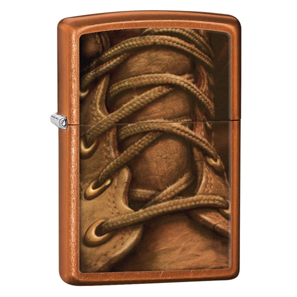 Zippo Boot Laces Toffee Windproof Lighter