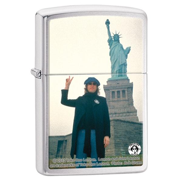 Zippo John Lennon Brushed Chrome Windproof Lighter