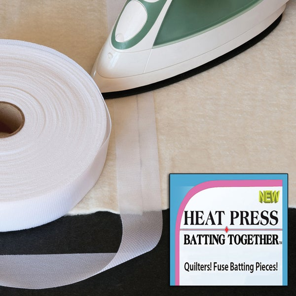 Heat Press Batting Together White1.5inX100yd