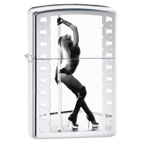 Zippo Pole Dancer High Polish Chrome Lighter