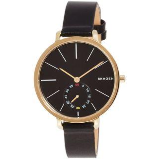 Skagen Women's SKW2354 'Hagen' Black Leather Watch