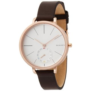 Skagen Women's SKW2356 'Hagen' Brown Leather Watch