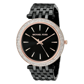 Michael Kors Women's MK3407 'Darci' Crystal Black Stainless Steel Watch