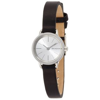 Skagen Women's SKW2361 'Hagen' Black Leather Watch