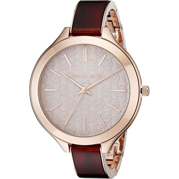 Michael Kors Women's MK4310 'Slim Runway' MK Logo Two-Tone Stainless Steel Watch