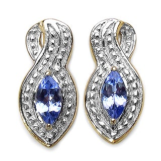 Malaika 14k Goldplated Sterling Silver 1/3ct Tanzanite Earrings