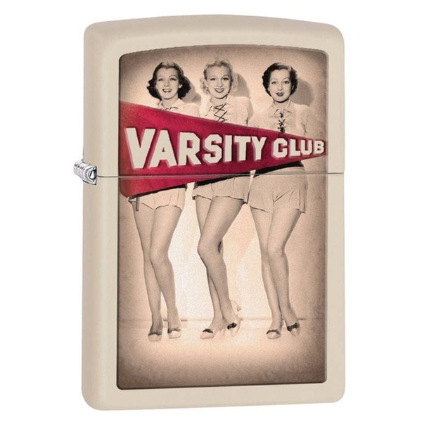 Zippo Varsity Club Cream Matte Lighter