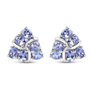 Malaika Sterling Silver 2ct Tanzanite Earrings
