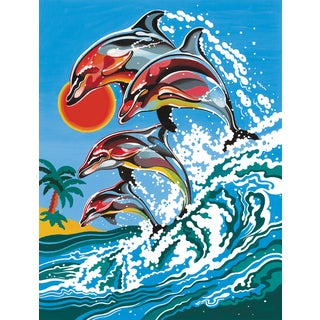 Junior Paint By Number Kit 9inX12inDolphins