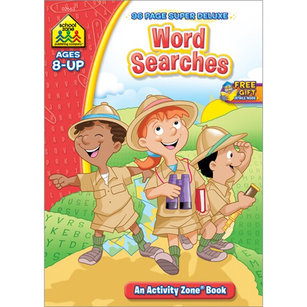 Super Deluxe WorkbookWord Searches Ages 8+
