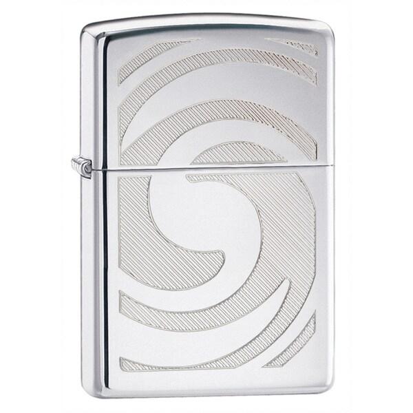 Zippo Swirl High Polish Chrome Lighter