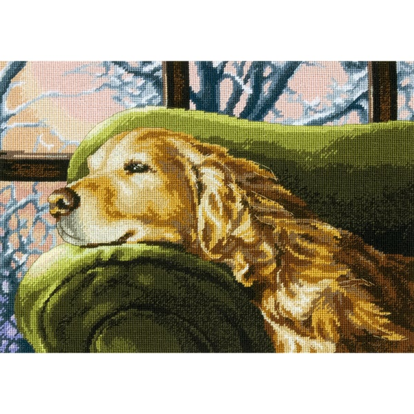 Lounging Needlepoint Kit14inX10in Stitched In Thread 16241227