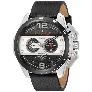 Diesel Men's DZ4361 'Ironside' Chronograph Black Leather Watch