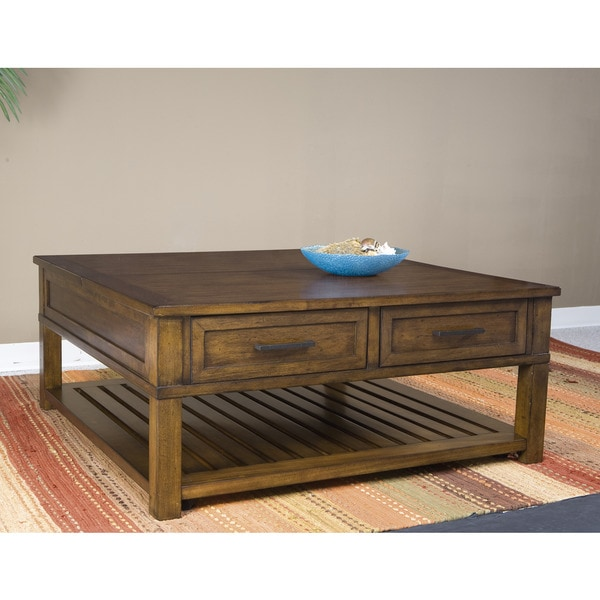 Panama Jack Eco Jack Square Lift-Top Cocktail Table