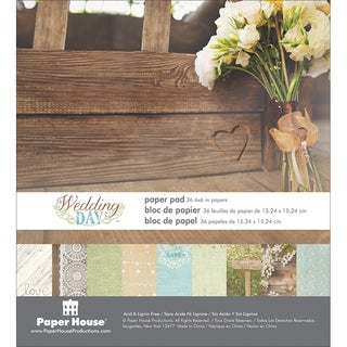 Paper House DoubleSided Paper Pad 6inX6inWedding Day