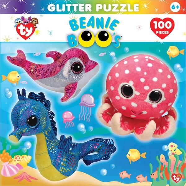 Jigsaw Puzzle Ty Beanie Boo Glitter 100pc 15inX11.5inOcean Club
