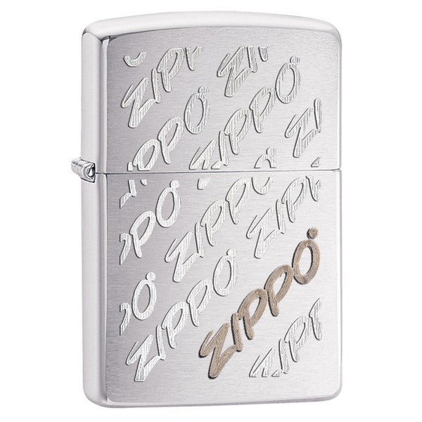 Zippo Zippo Script Brushed Chrome Windproof Lighter