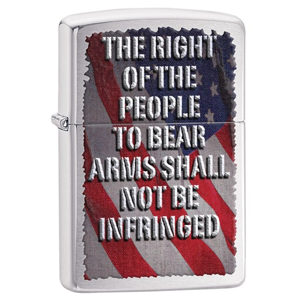Zippo Right Of The People Brushed Chrome Windproof Lighter