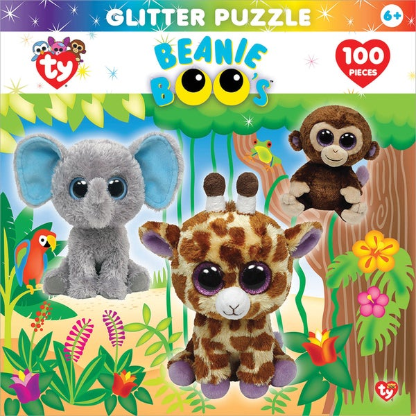Jigsaw Puzzle Ty Beanie Boo Glitter 100pc 15inX11.5inJungle Club