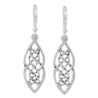 Handcrafted Sterling Silver 'Celtic Braid' Earrings (Thailand)