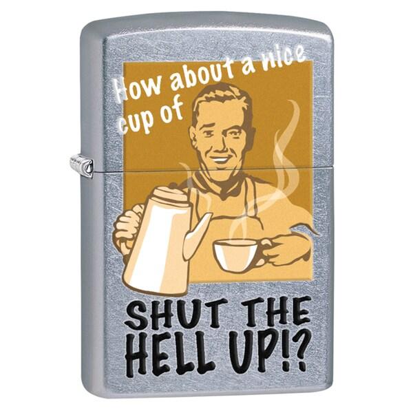 Zippo Shut The Hell Up Street Chrome Windproof Lighter