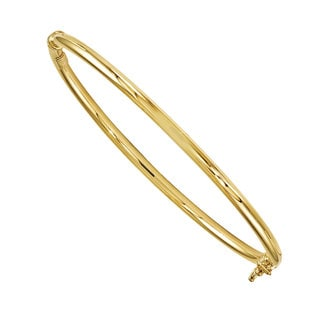 Versil 14k Gold Polished Hinged Bangle