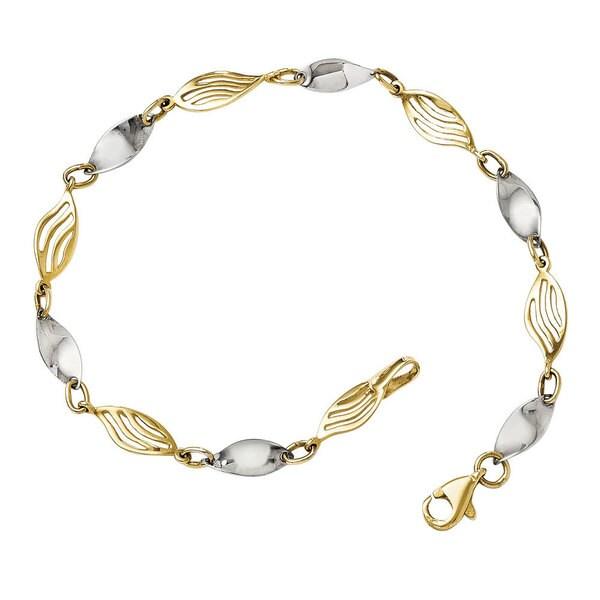 14k Two-tone Gold Bracelet