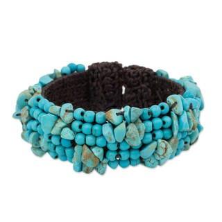 Handcrafted Calcite 'Boho Nature' Bracelet (Thailand)