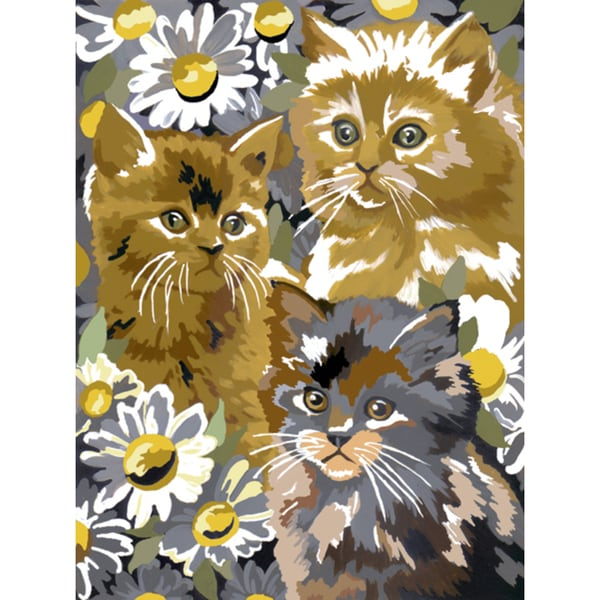 Junior Small Paint By Number Kit 8.75inX11.75inKittens & Daisies