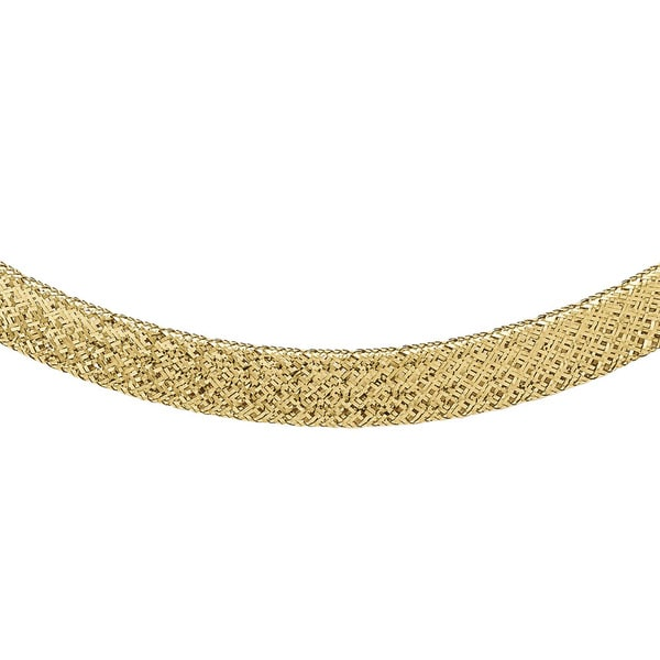 Versil 14k Gold Mesh Necklace