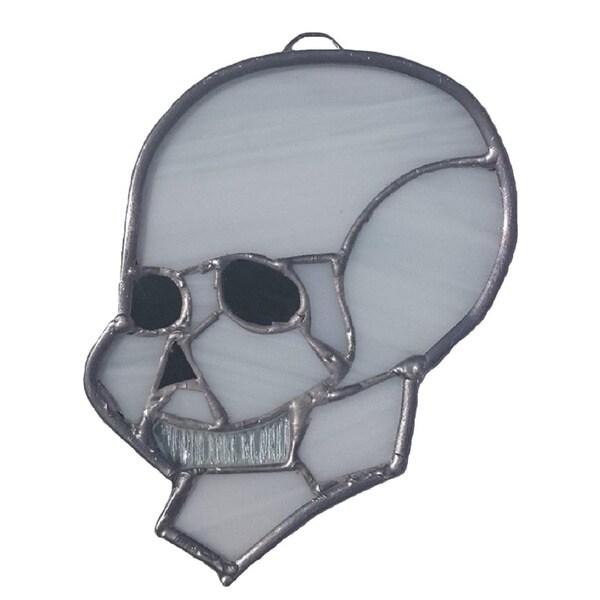 Stained Glass Skull Suncatcher