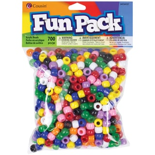 Fun Pack Acrylic Pony Beads 700/PkgRainbow