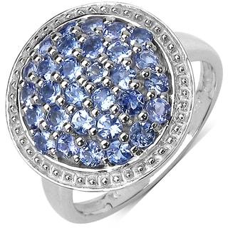 Malaika Sterling Silver 7/8ct Tanzanite Ring