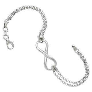 Sterling Silver Infinity Symbol Bracelet