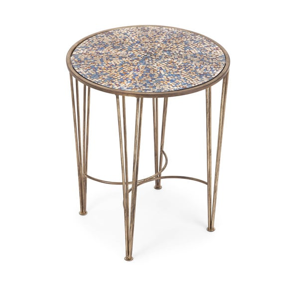 Carlie Mosaic Brown Accent Table