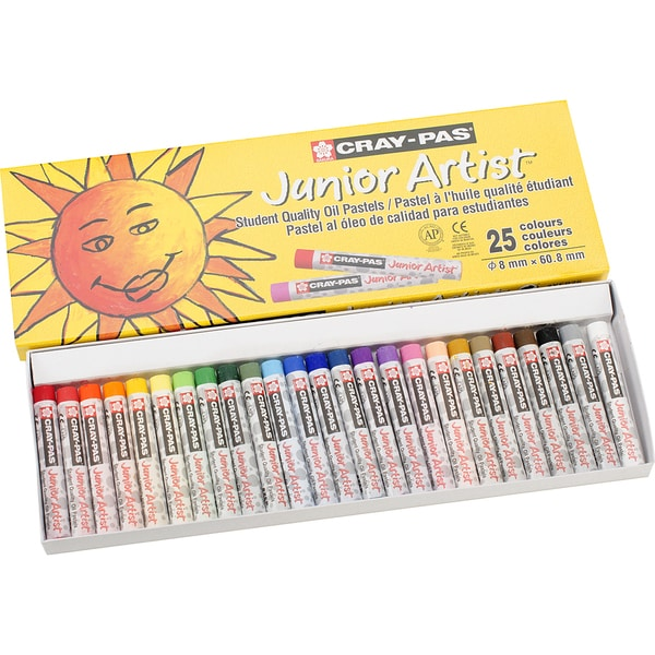 CrayPas Junior Artist Oil Pastels25/Pkg