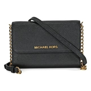 Michael Kors Jet Set Chain Item Black Crossbody Handbag