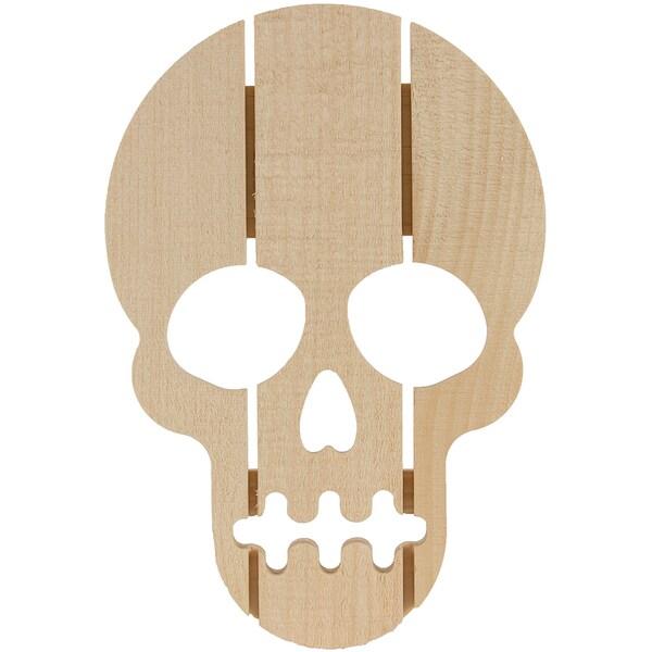 Rustic Pine Skull7.5inX11in